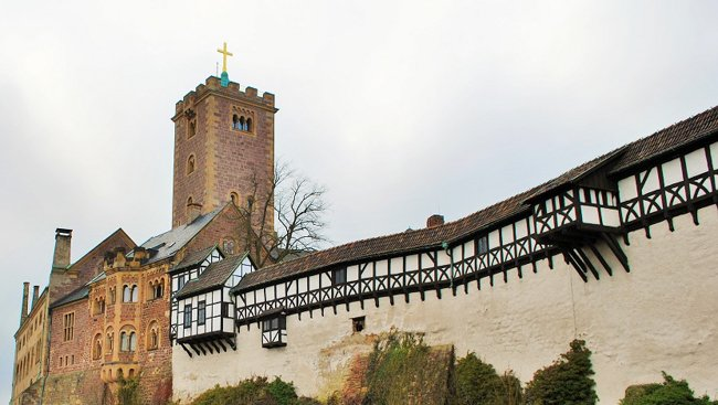 Wartburg Castle seen from the entrance