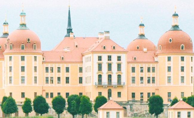 Moritzburg Castle seen from across the moat