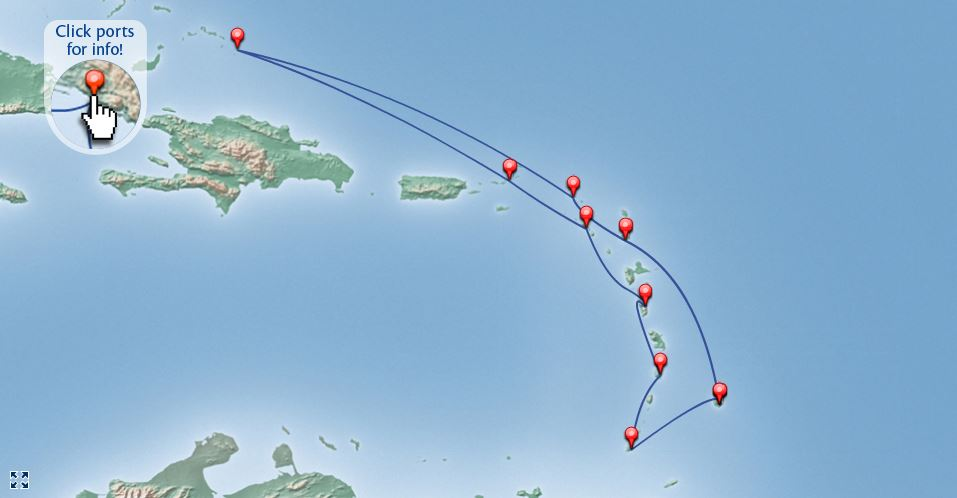 Caribbean Islands Itinerary with the Britannia