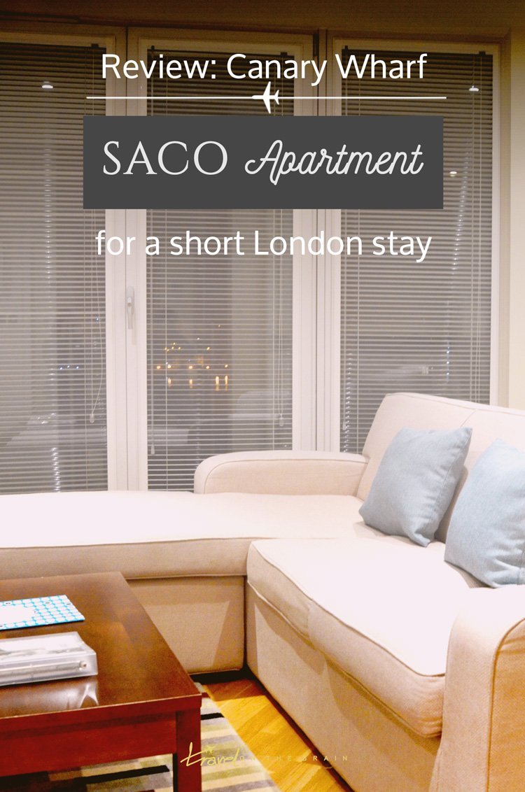 Review: Saco Apartment in London's Canary Wharf #sp. Should you rent an apartment while staying in London? // Sponsored