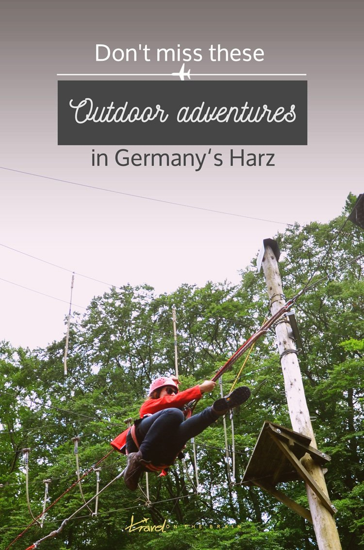 Don't miss these outdoor adventures in the Harz, Germany - you can do toboggan rides, pillow jumps, tree top walks, climbing forest sessions and cable car rides, to name just a few // Sponsored