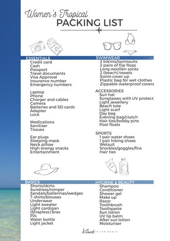 Ultimate Womens Tropical Vacation Packing List For Your Next Summer Trip