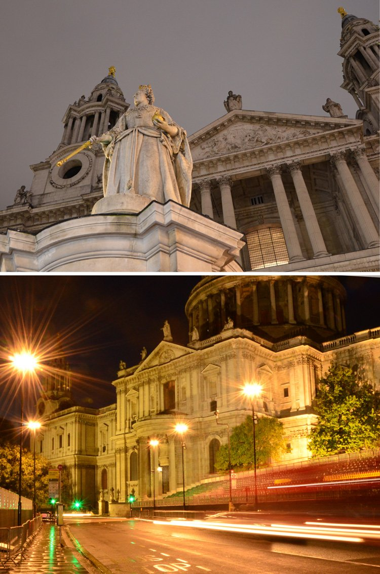 Near Mansion House in London, St Paul's