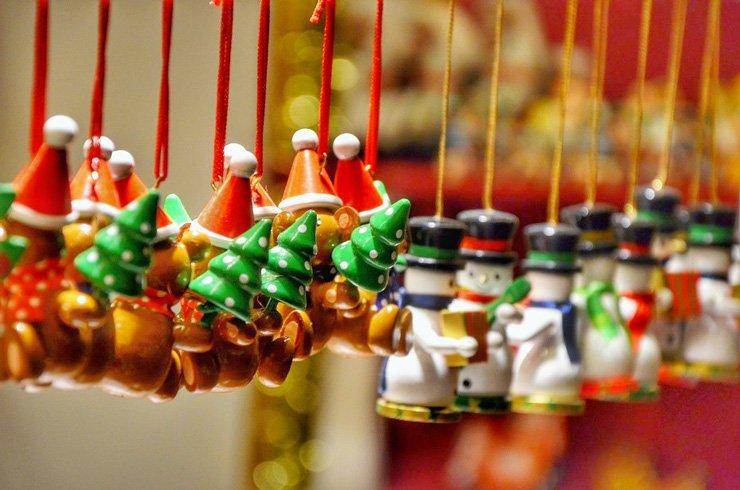 Christmas market trinkets