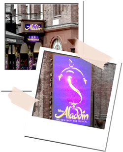 Behind the stage door of West End Show Aladdin [#TOBLocalLoves]