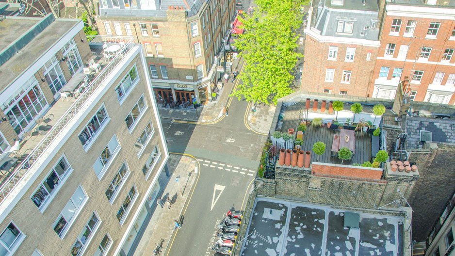 SACO Fitzrovia penthouse view over the West End