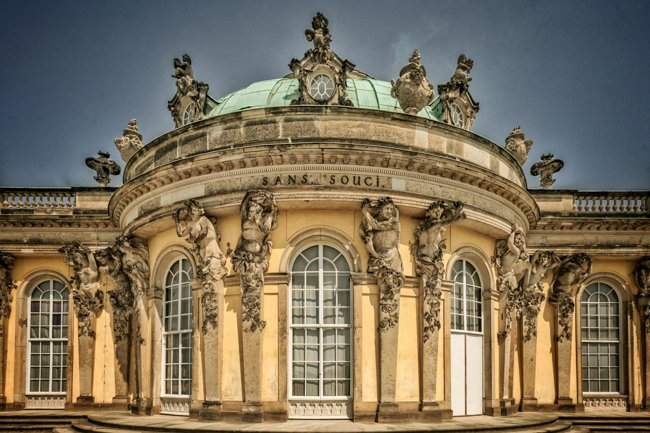 doors of Sanssouci Castle in Potsdam, Germany