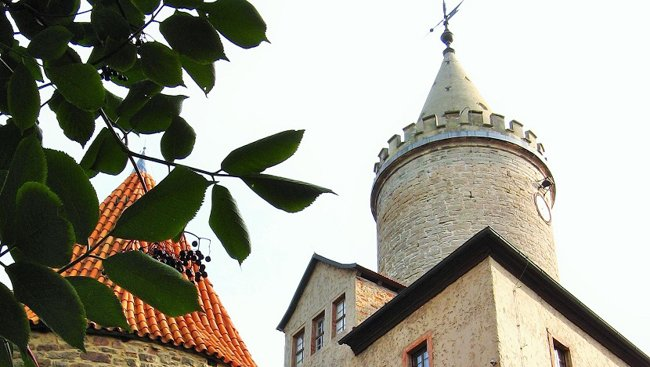 close of of Leuchtenburg Tower in Germany