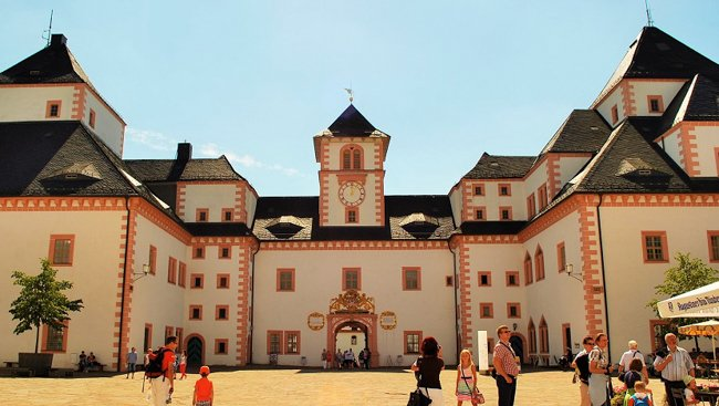 front entrance of Augustusburg Castle, Germany