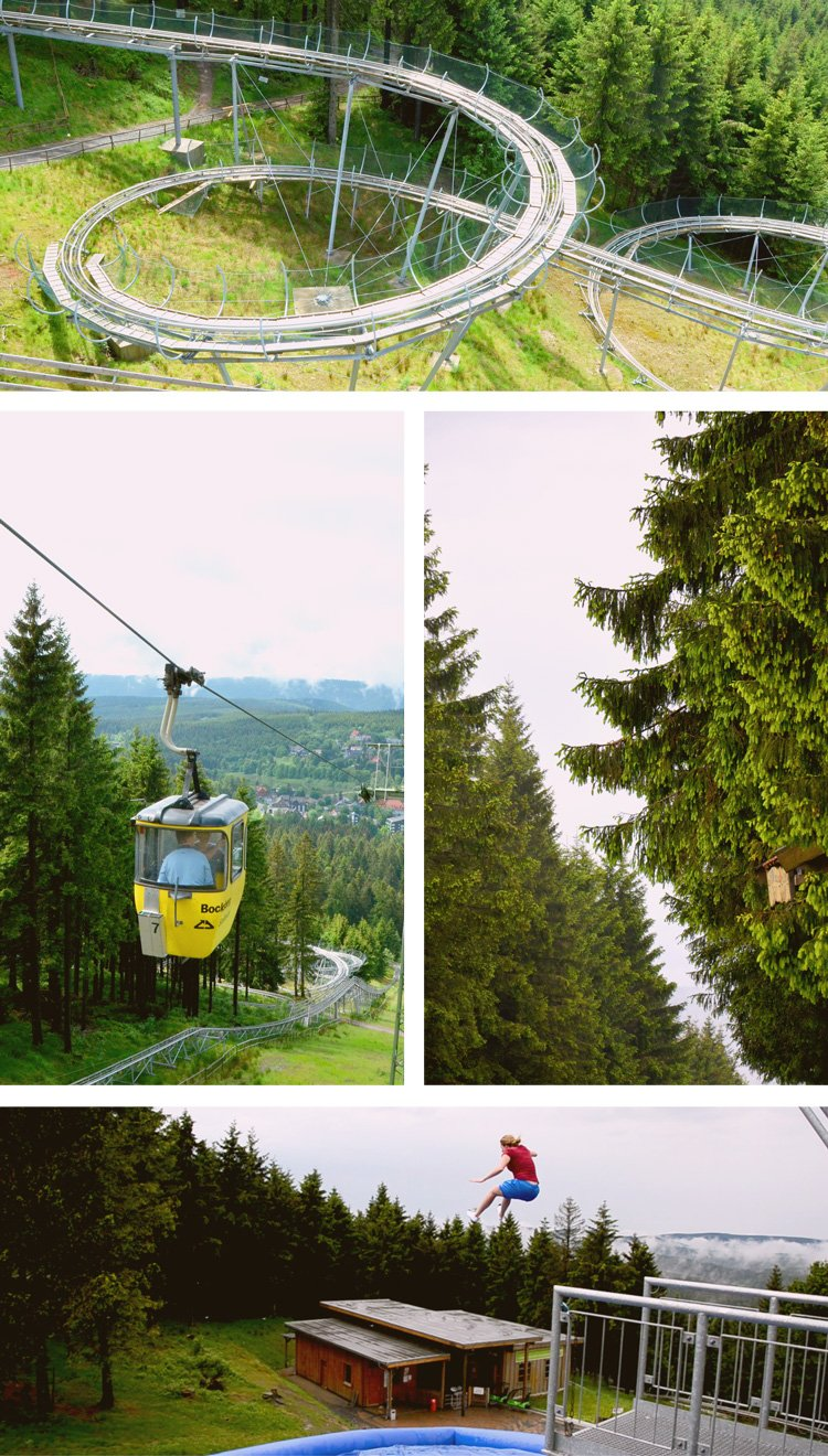 Don't miss these outdoor adventures in the Harz - toboggan rides, pillow jumps, cable cars